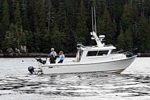 Oasis Alaska Charters boat they use while fishing in Ketchikan, Alaska Alaska.