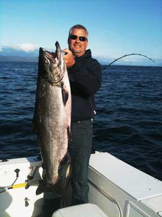 Mark Andrew King Salmon with Oasis Alaska Charters