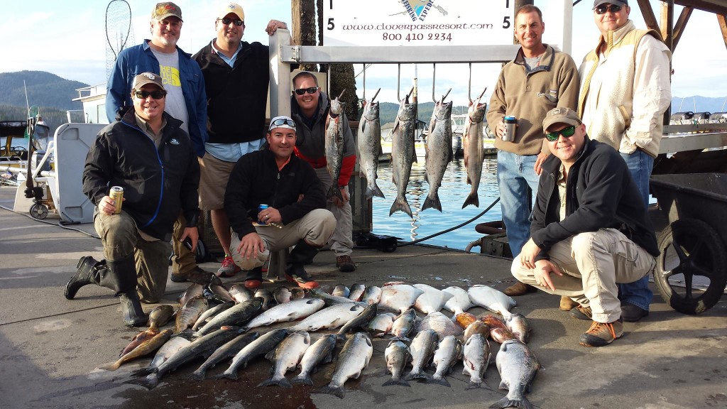 Family charter Fishing in Ketchikan with large group