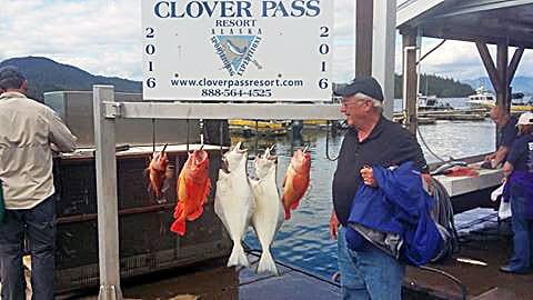 Halibut fishing in Ketchikan Alaska July-4-2016