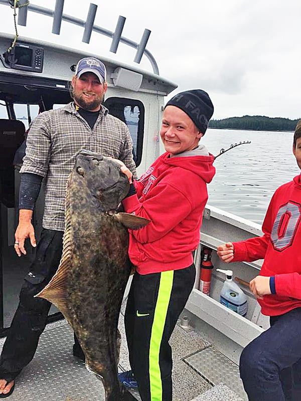 Halibut fishing in Ketchikan Alaska July-6-2016