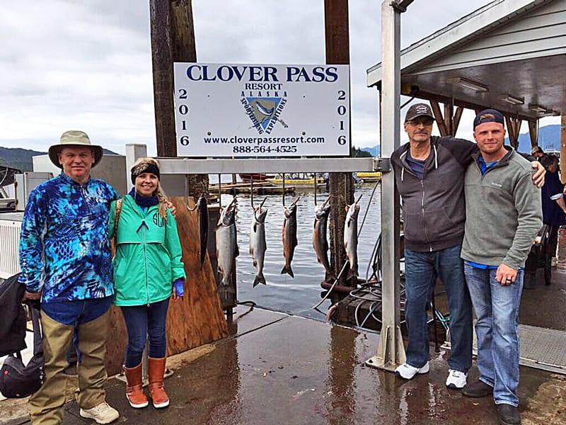 4 Hr. Salmon Fishing in Ketchikan Alaska July 13th 2016