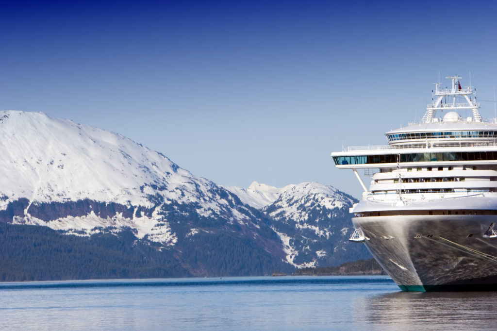 Docked Alaska cruise ship
