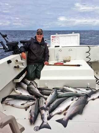 Nice catch of salmon with Oasis Alaska Charters